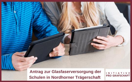 Antrag zur Glasfaserversorgung der Schulen in Nordhorner Trägerschaft