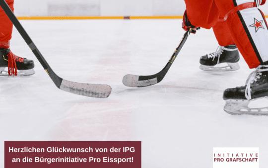 Herzlichen Glückwunsch von der IPG an die Bürgerinitiative Pro Eissport!