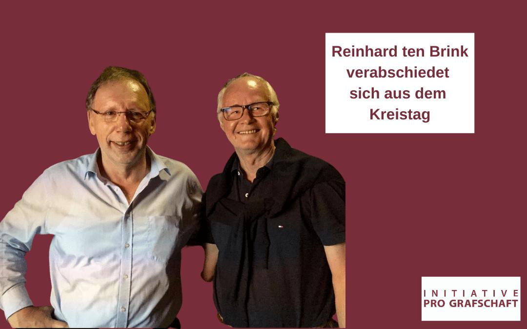 Reinhard ten Brink verabschiedet sich aus dem Kreistag