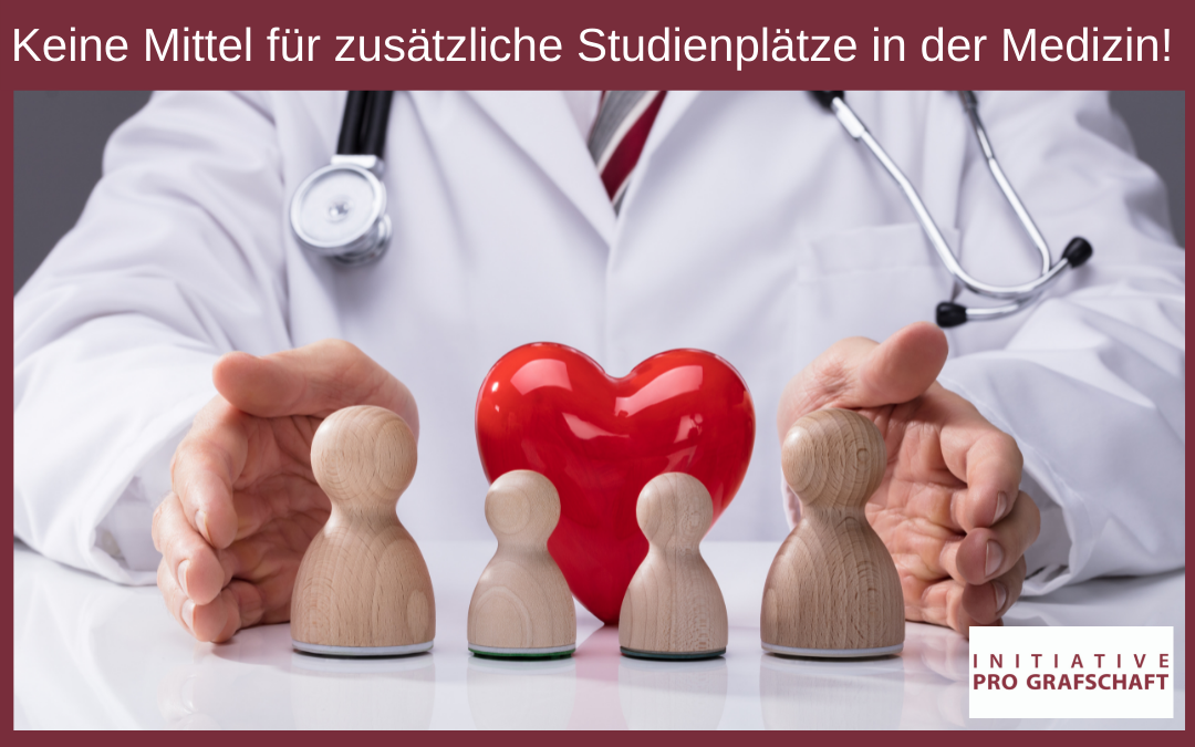 Keine Mittel für zusätzliche Studienplätze in der Medizin!