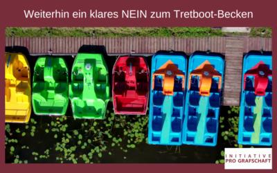 Weiterhin ein klares NEIN zum Tretboot-Becken